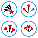 Lovely Fireworks Rounded Vector Icons Royalty Free Stock Images