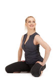 Lovely fitness instructor Royalty Free Stock Photo