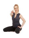Lovely fitness instructor Stock Photo