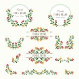 Lovely Floral bouquets and wreath design. Suitable for for weddings, Valentines day, birthdays, menu, holidays, baby shower, mothers day, valentines day Royalty Free Stock Images