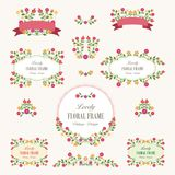 Lovely Floral bouquets and wreath design. Suitable for for weddings, Valentines day, birthdays, menu, holidays, baby shower, mothers day, valentines day Royalty Free Stock Image