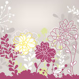 Lovely floral card Stock Image