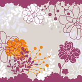 Lovely floral card Royalty Free Stock Photography