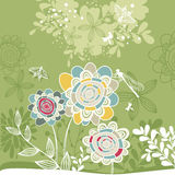 Lovely floral card Royalty Free Stock Photos