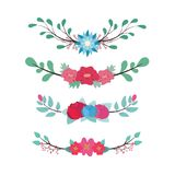 Lovely floral dividers Stock Images