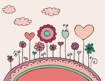 Lovely floral doodle Stock Photography