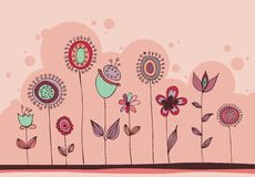 Lovely floral doodle Stock Images