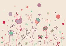 Lovely floral doodle Stock Photo