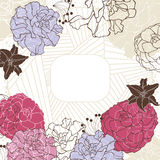 Lovely floral frame Royalty Free Stock Images