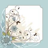 Lovely floral frame  illustration Stock Images