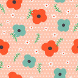 Lovely floral seamless pattern Royalty Free Stock Photography