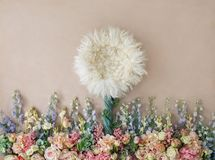 Lovely flower background for newborn baby, concept of newborn ba. By stock images