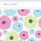 Lovely flowers horizontal torn seamless pattern Stock Images