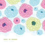 Lovely flowers vertical seamless pattern Royalty Free Stock Photo