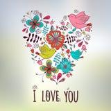 Lovely frame. Floral design. Heart shape.  Wedding Royalty Free Stock Image