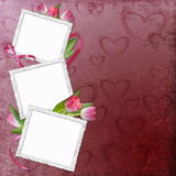 Lovely frame for Valentine's day Royalty Free Stock Image