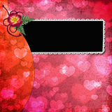 Lovely frame for Valentine's day royalty free stock photos