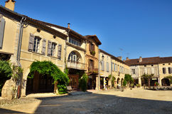 Lovely French village, Labastide-D'Armagnac Stock Photos