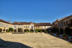 Lovely French village, Labastide-D'Armagnac Royalty Free Stock Photography