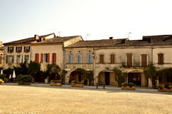 Lovely French village, Labastide-D'Armagnac Royalty Free Stock Photos
