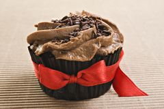 Lovely fresh chocolate cupcake Royalty Free Stock Images