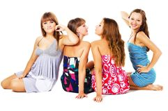 Lovely friends Stock Images