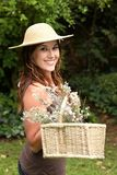 Lovely Gardening Woman Royalty Free Stock Images
