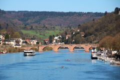 Lovely German River royalty free stock photos