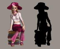 Lovely Girl stock illustration