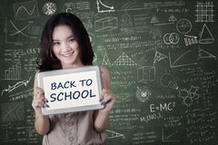 Lovely girl back to school Stock Photography