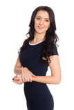 Lovely girl with black hair Royalty Free Stock Image