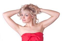 Lovely girl blonde Stock Images