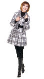 Lovely girl in demi-season clothing Stock Photography