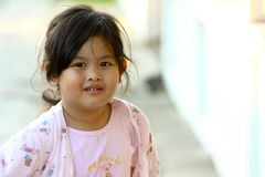 Lovely girl. Happy and funny little girl Stock Photography