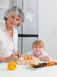 Lovely girl and her grandmother Royalty Free Stock Image