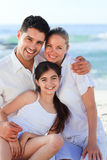 Lovely girl with her parents Royalty Free Stock Image