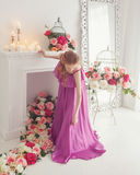 Lovely Girl In Beautiful Dress Royalty Free Stock Photography