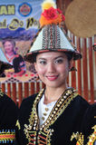 Lovely girl of Kadazan dusun tribe in traditional costumes in Sabah, Borneo. Stock Image
