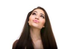 Lovely girl kissing Royalty Free Stock Photos