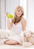Lovely girl with lemon Royalty Free Stock Images
