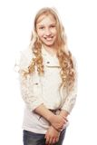 Lovely girl with long blond hair Royalty Free Stock Photography