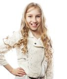 Lovely girl with long blond hair Stock Photo