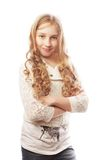 Lovely girl with long blond hair Stock Photography