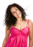 Lovely girl in magenta top Stock Photography