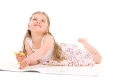 Lovely girl painting Royalty Free Stock Photo
