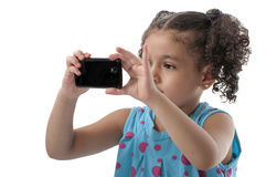 Lovely Girl Photographing stock image
