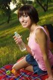 Lovely girl on picnic Stock Photo