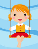 The lovely girl shakes on a swing Stock Photos
