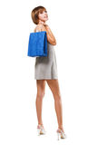 Lovely girl with shopping bag Royalty Free Stock Photo