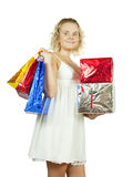 Lovely girl with shopping bags Stock Photo